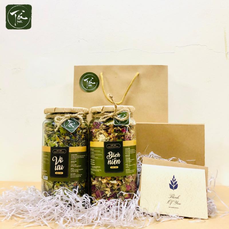 Tỏa Trà - Set quà tặng trà hoa | Vô ưu & Bách niên - set quà tặng trà hoa