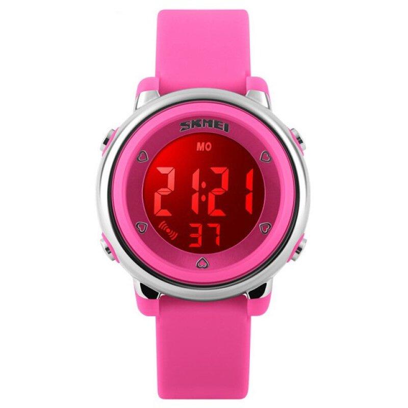 Đồng hồ trẻ em dây cao su Skmei 1100 (Hồng) bán chạy