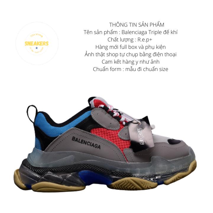 Giày nam nữ sneaker thể thao Ba.Len.cia.ga đế khí đế tách phân tầng chuẩn chữ 2