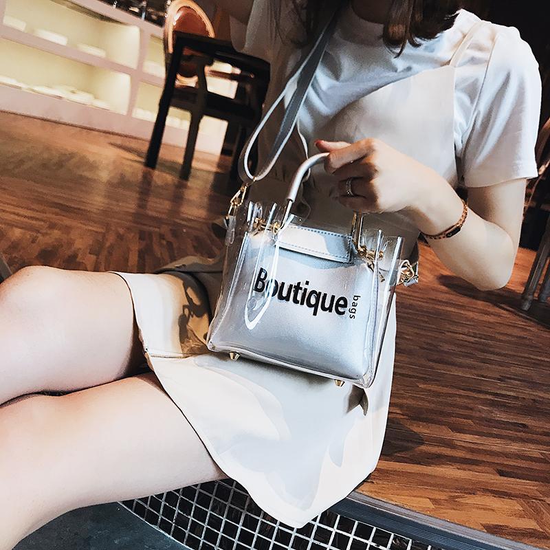 ... Transparan tas kecil perempuan 2019 model baru pasang Musim panas netral Tas jelly kasual dan modis