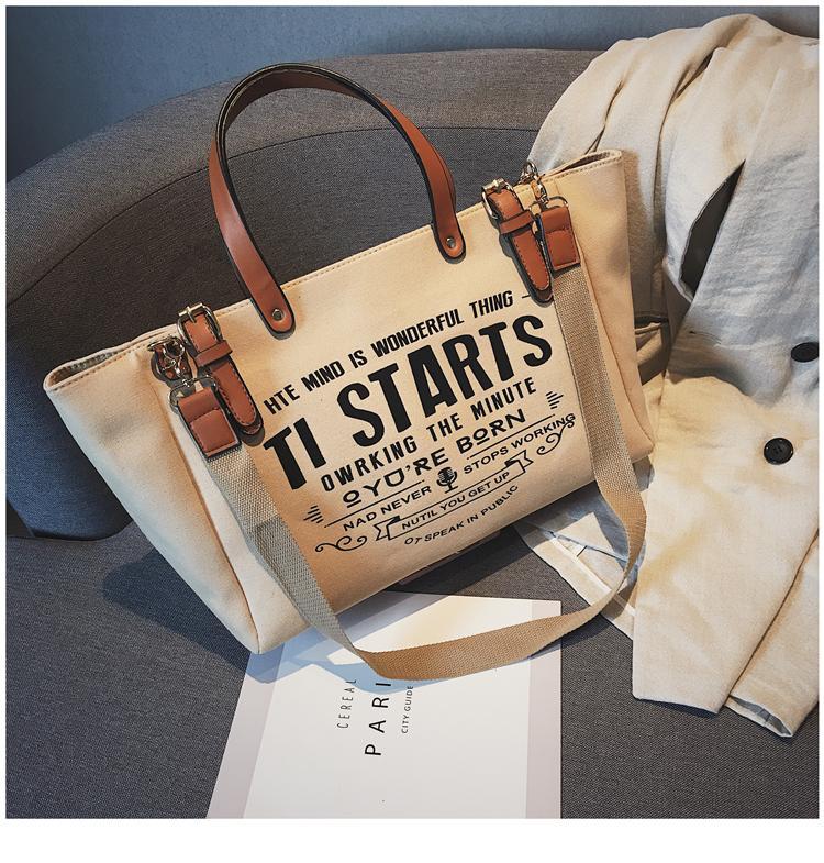 กระเป๋าเป้สะพายหลัง นักเรียน ผู้หญิง วัยรุ่น พัทลุง ขี้เกียจ SaiL กระเป๋าผ้าหญิง 2019 ใหม่ความจุขนาดใหญ่มือถือ Tote Bag สไตล์เกาหลีเข้าได้หลายชุดกระเป๋าไหล่ลำลองแพคเกจ