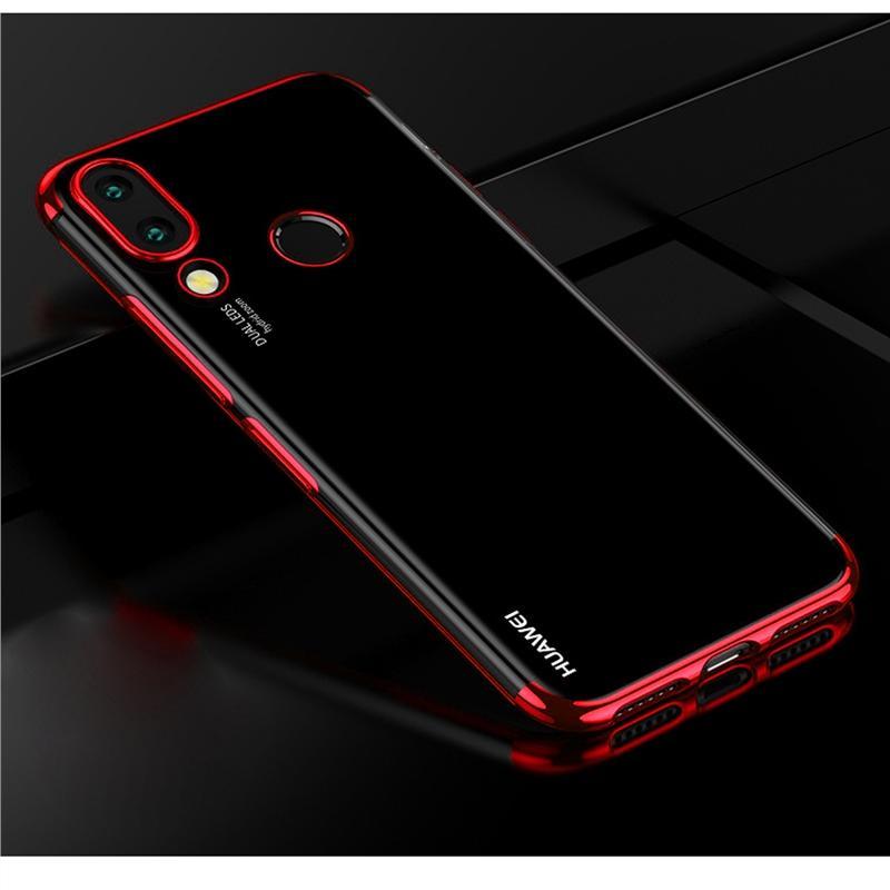 Detail Gambar Ponsel Casing untuk Huawei Honor Play Lembut TPU Ultra Tipis Ringan Electroplating Casing Belakang